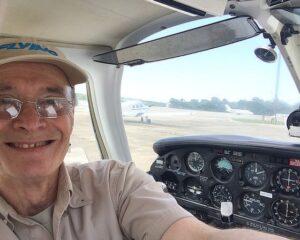 Polishing flights in a USAF Piper Arrow.